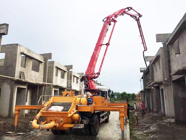 25m pumpcrete work for building projects