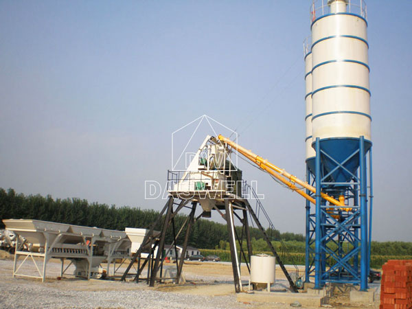 CBP25 mini concrete batch plant for sale