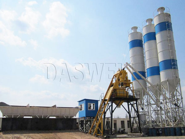 CBP35 mini batching mixing plant