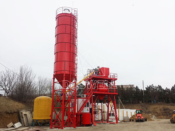 CBP60 stationary concrete batching plant philippines