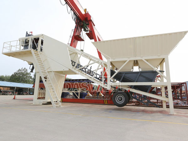 MBCP50 small mobile concrete batching plant