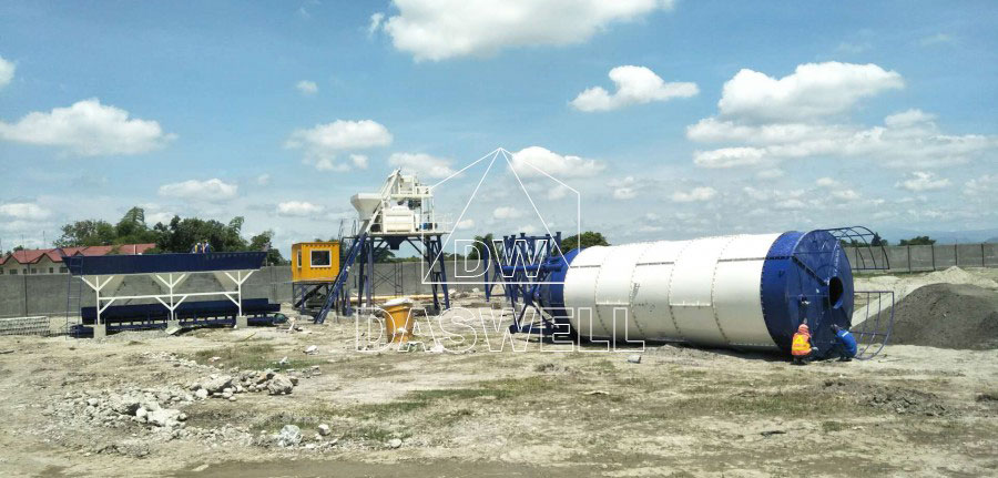 MCBP25 mini mobile concrete plant in Philippines