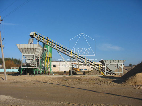 MCBP35 mini mobile concrete batching plant
