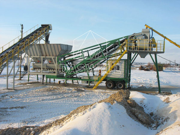 MCBP35 mini mobile concrete mixing plant