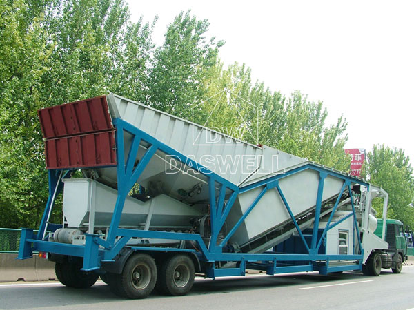 MCBP75 small mobile concrete plant