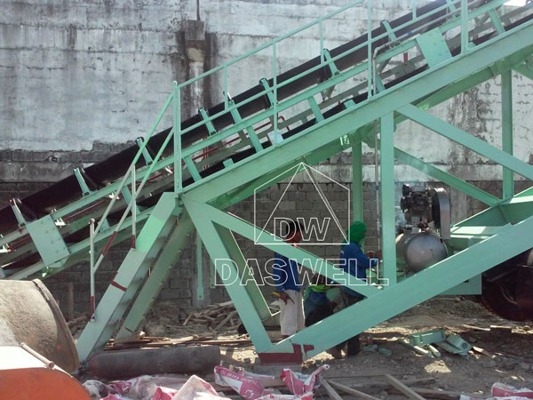 belt conveyor for small plant