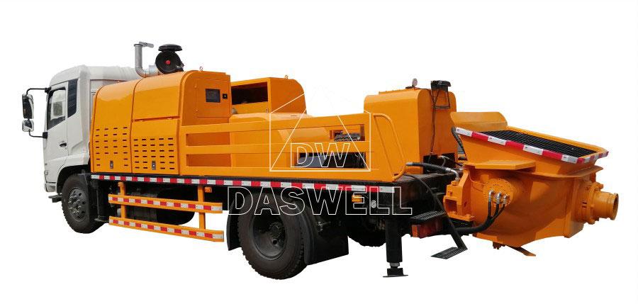 daswell concrete line pump truck for sale