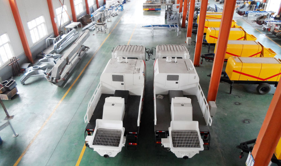 line pump truck production factory