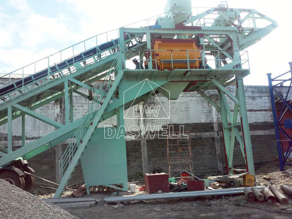 mixer machine for concrete plant