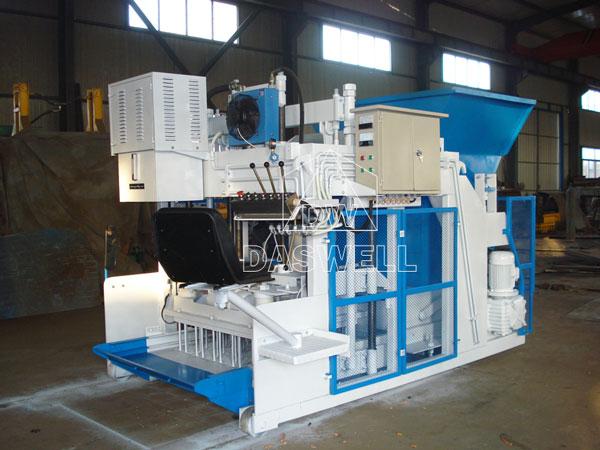 mobile concrete block machine