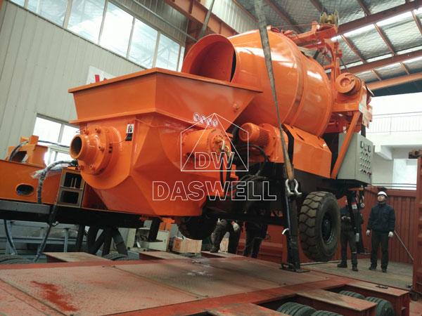 transport concrete mixer pump to Philippines