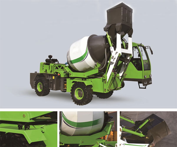 1.8m3 self loading mixer truck