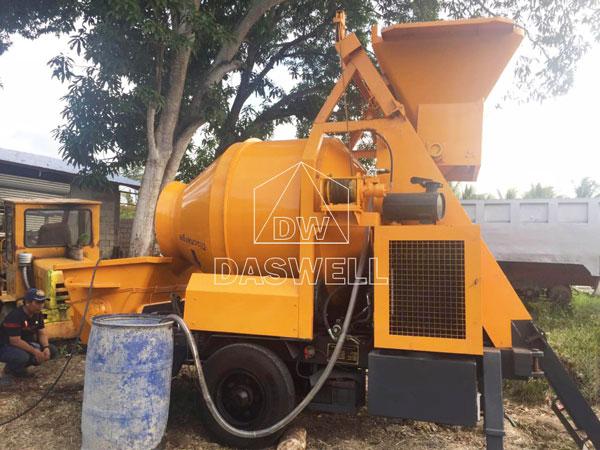 HBT40 concrete mixer pumping machine