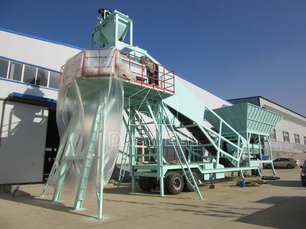 MCBP35 mini mobile concrete batch plant