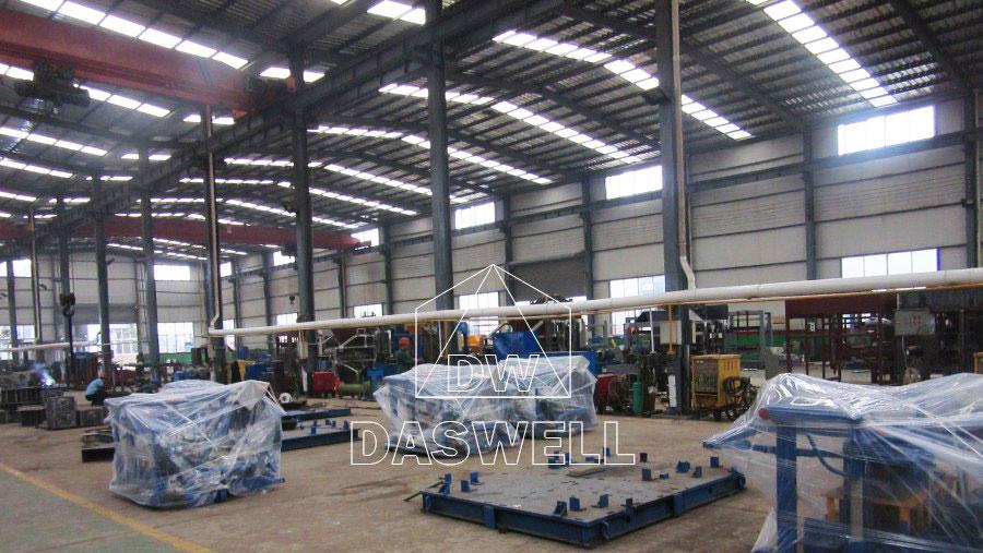 brick machine production workshop