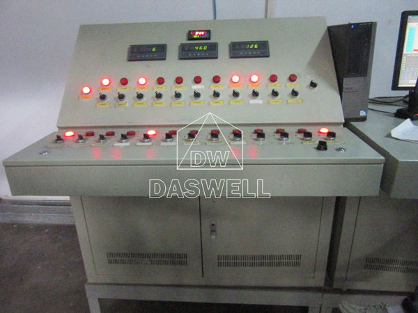 control cpanel of brick machine