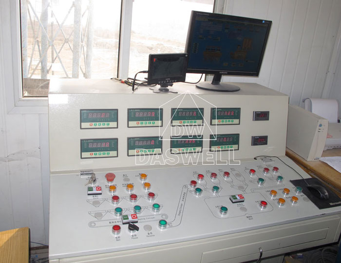 control system for ready mix concrete plant