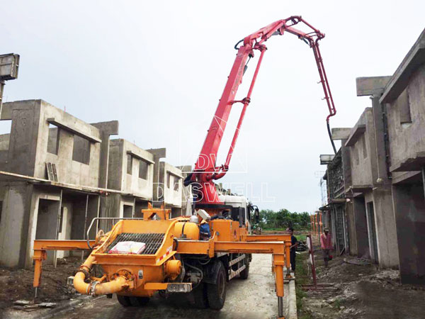 25m concrete pump truck work for building projects