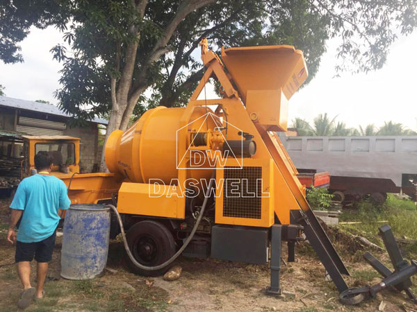 HBT40 small cement mixer pumping machine