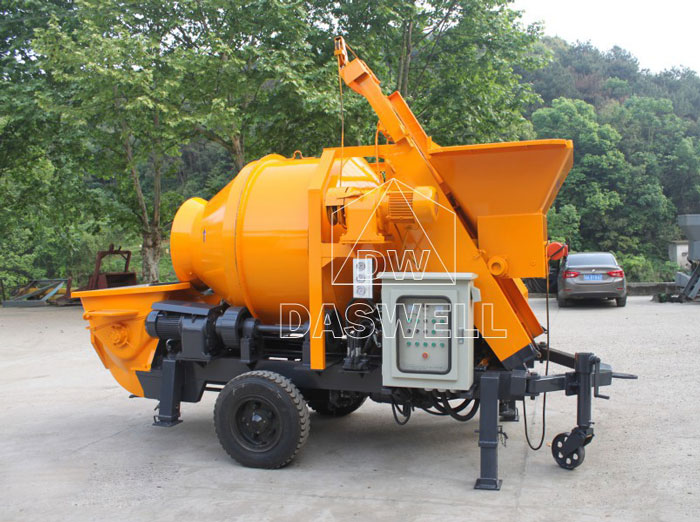 HBT40 small concrete mixer and pump