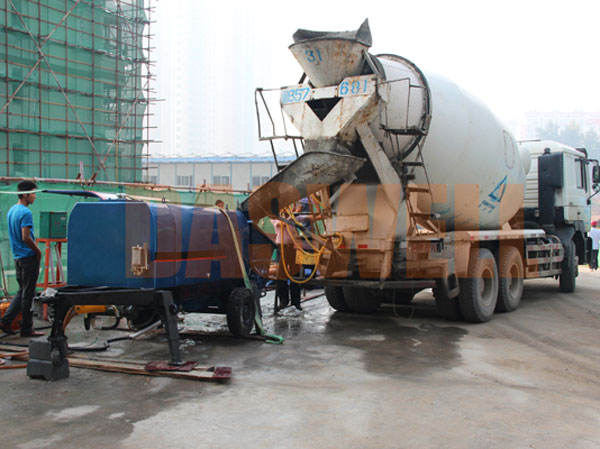portable concrete pump use