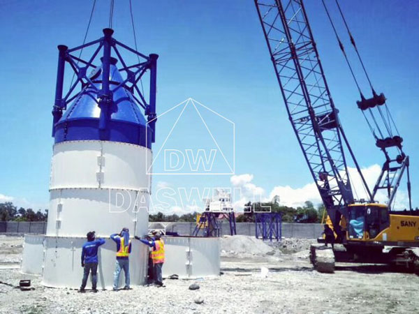 the installation of cement silo