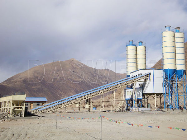 HZS120 cement batching plant manufacturer