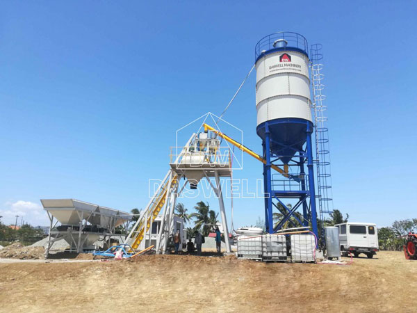 HZS25 concrete batch mix plant manufacturer