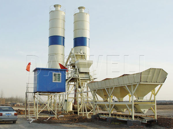 HZS35 concrete cement mixing plant