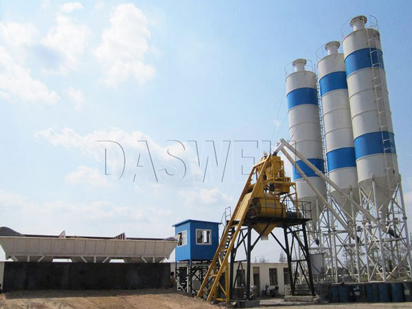 HZS50 concrete cement mixing machine