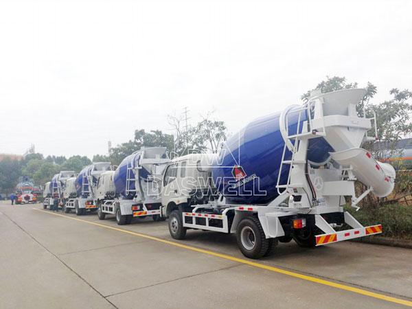 DW-4 concrete mixer truck agitator