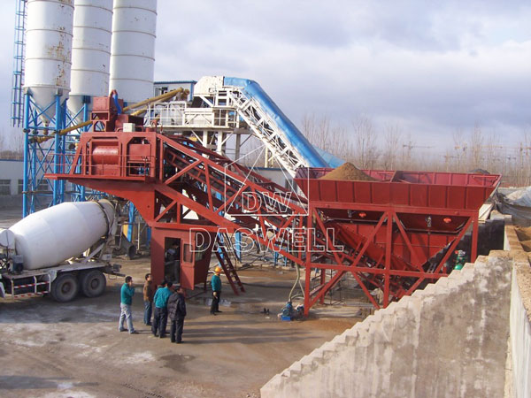 MCBP75 cement batching mixing plant