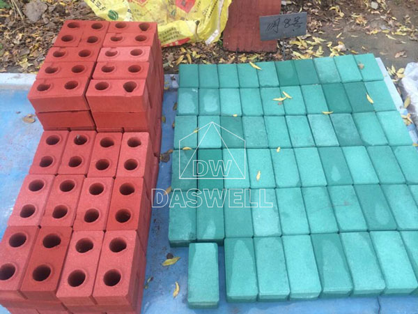 finished interlock block bricks