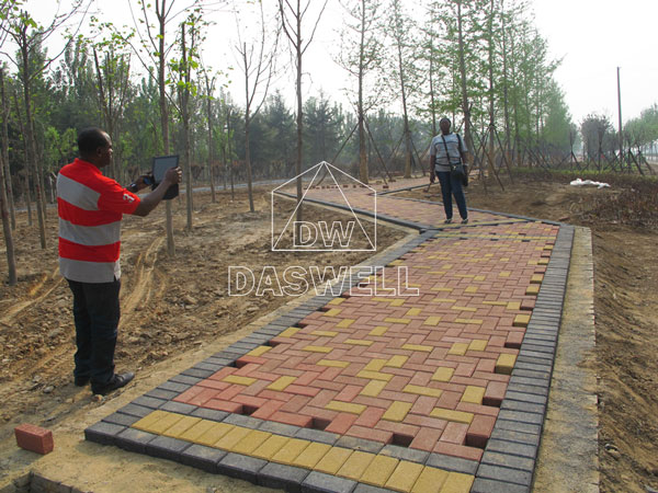 use of finished interlock bricks