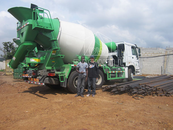 wide use of mini concrete mixer truck