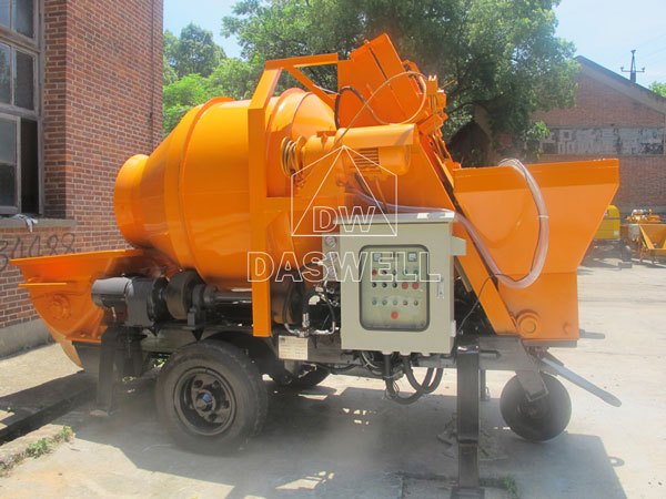 HBT40 mini concrete mixer with pump
