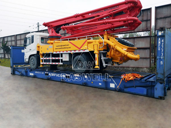deliver 29m mini pumpcrete to philippines