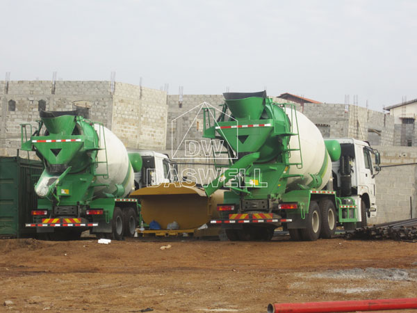wild application of cement mixer machine truck