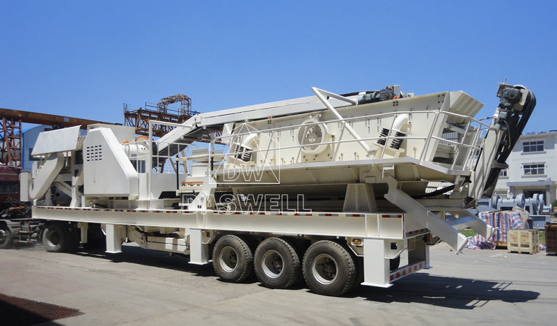 Daswell mobile crushing and screening plant