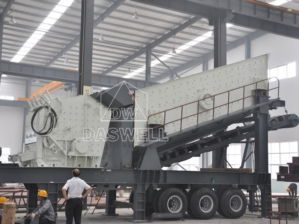 mobile type crushing equipment