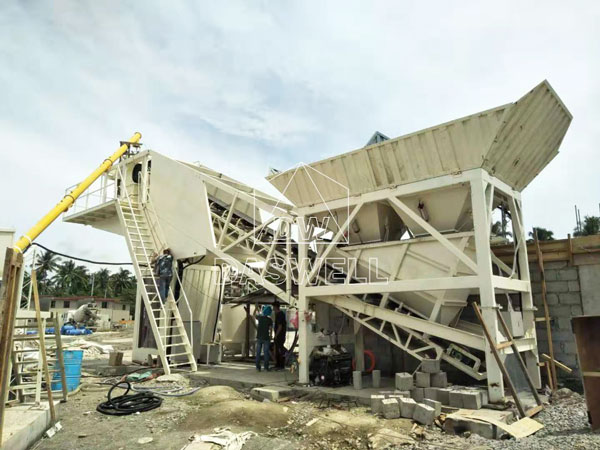 YHZS25 mobile cement mixing plant philippines