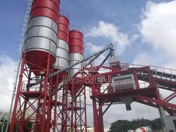 YHZS100 cement mixing plant philippines
