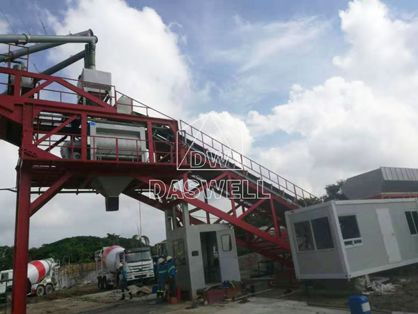 YHZS100 cement mixing plant