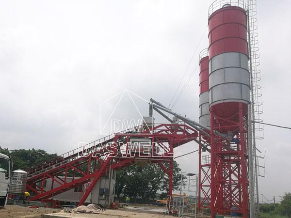 YHZS100 mobile concrete batching plant