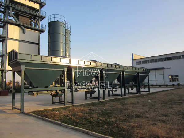 component of asphalt batch mix plant