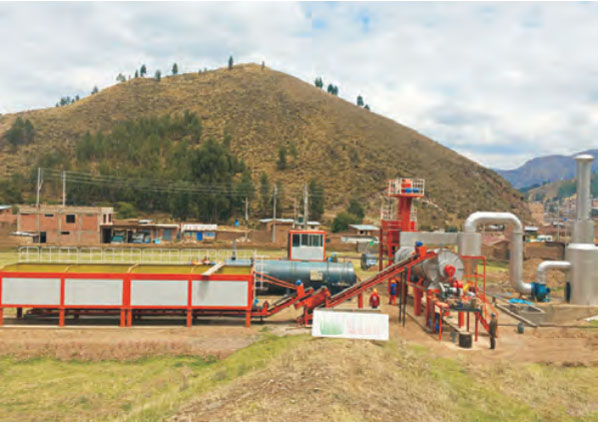 the stationary drum plant
