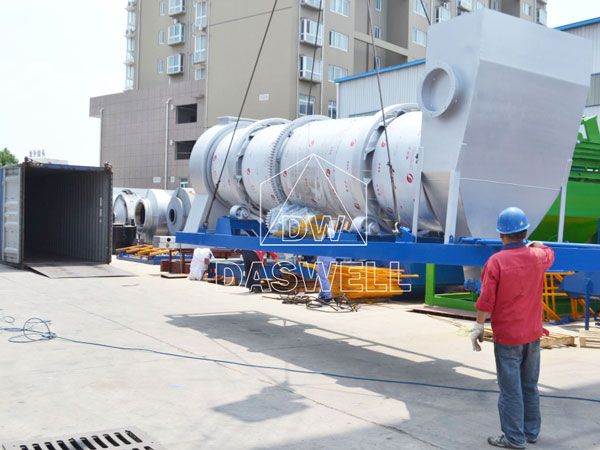 transport the mobile asphalt plant