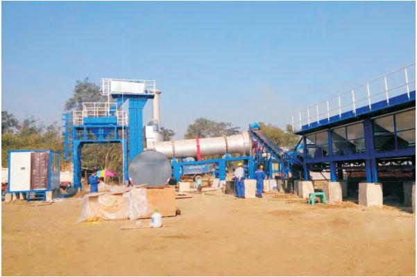 MADP100 small portable mixing plant