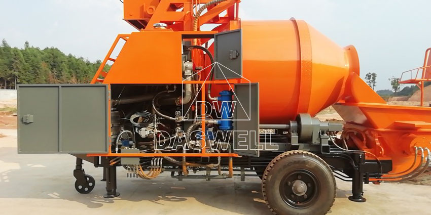 DHBT40 concrete mixer pump structure