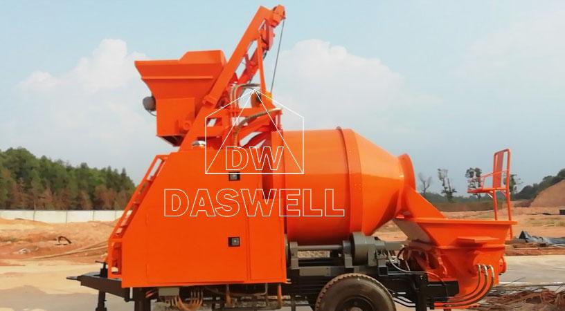 DHBT40 pump machine in site